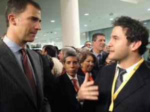 Jacob with King Felipe, King of Spain