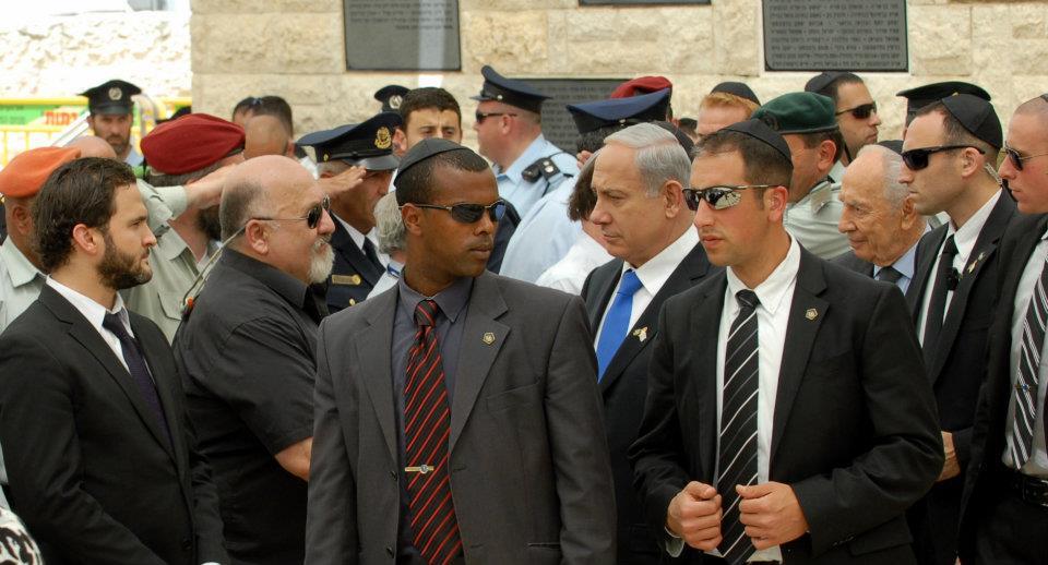 Jacob Kimchy and Prime Minister Benjamin Netanyahi